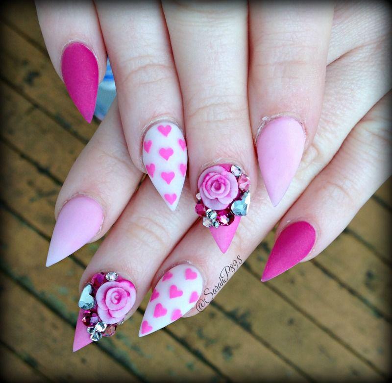 valentines day nails nail art