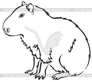 Capybara free coloring page. | Reader Bee Free Printable Coloring ...
