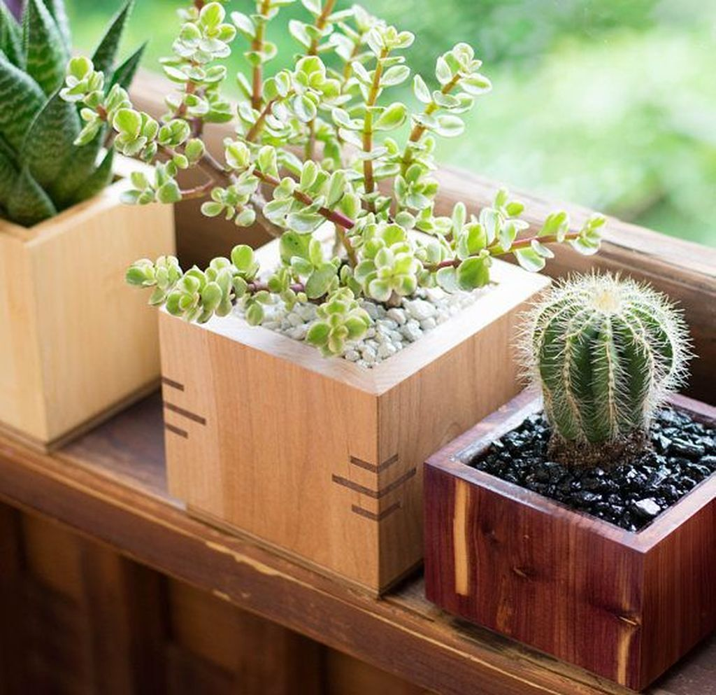 48 Perfect Diy Small Planters Ideas You Can Copy Decoomo Com Wooden Planter Boxes Wooden Planters Wood Planters