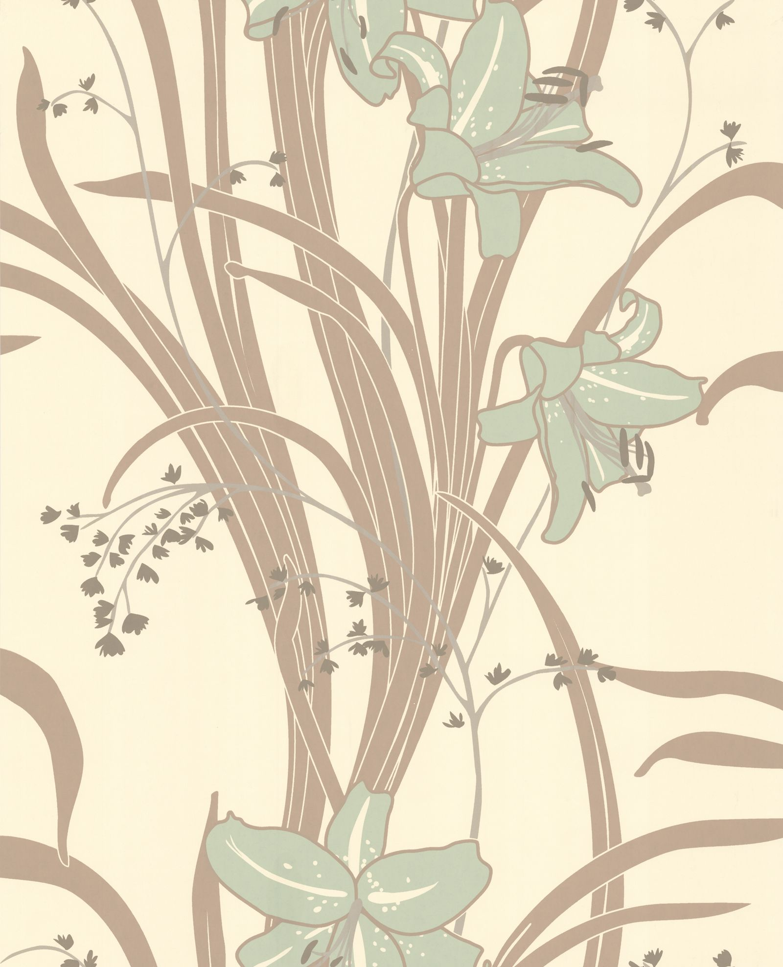 Art Nouveau Interior Design & Home Decor. Lilies ...