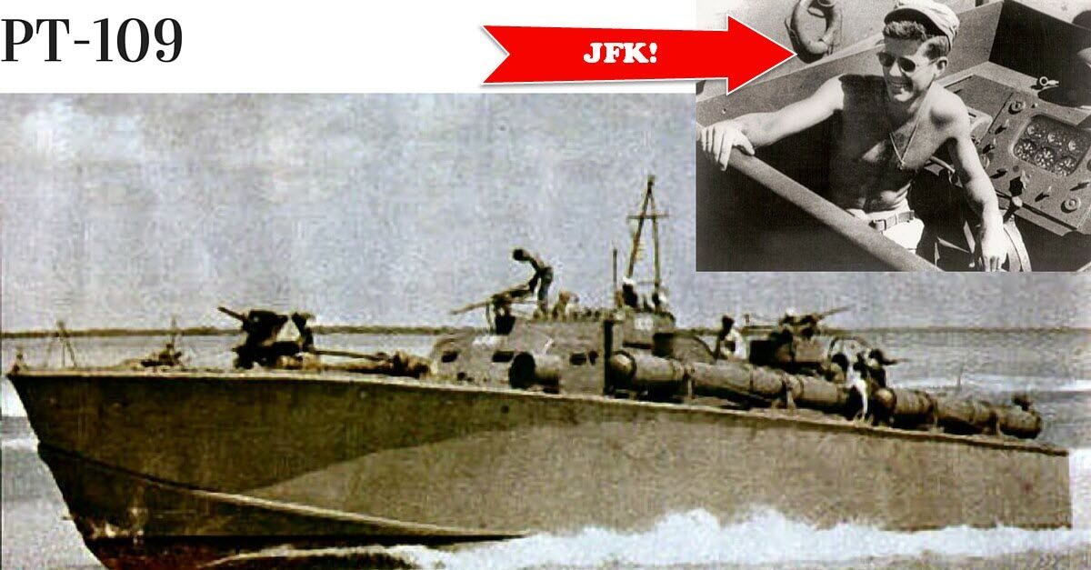 JF Kennedy's PT109 Towing A Wounded Crew Member To