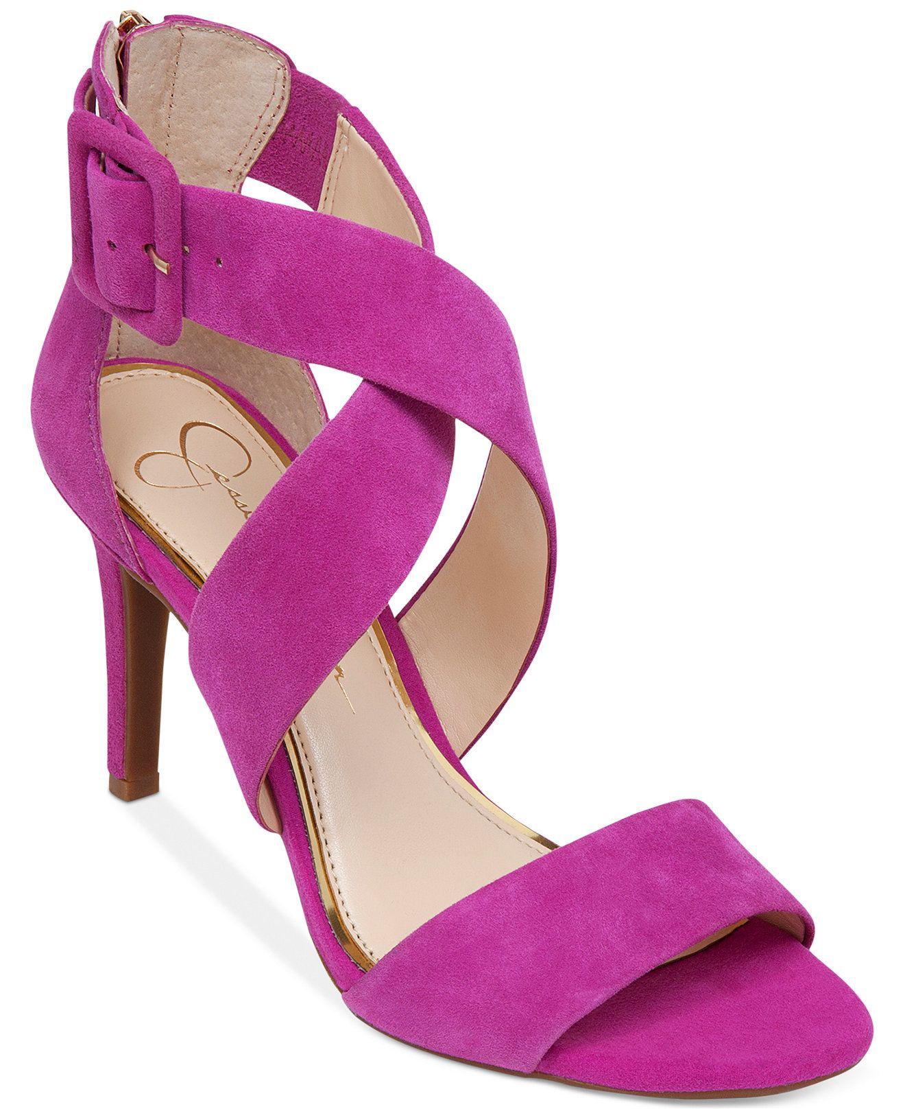 Jessica Simpson Liddy Cross Strap Sandals - Sandals - Shoes - Macy\'s ...