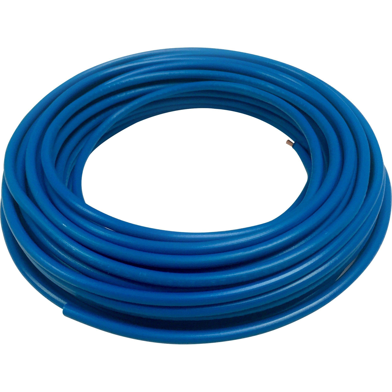 Fil Electrique 2 5 Mm H07vu En Couronne De 10m Bleu Fil Electrique Bleu Et Electrique