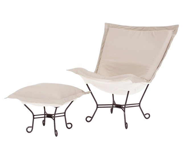 Patio Puff Chair And Ottoman By Howard Elliott | Modern Furniture Decor