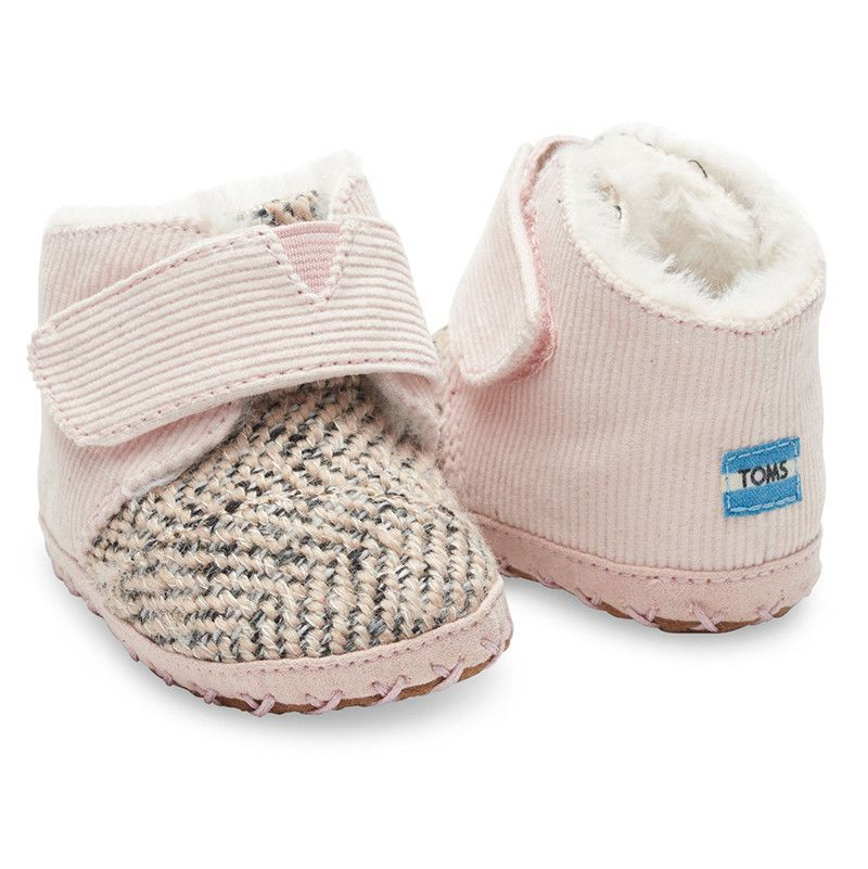 f3bd73f4e4 Pink Corduroy Tweed Tiny TOMS Cuna Crib Shoes | Ava's style | Crib ...