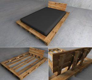 bett selber bauen f r ein individuelles schlafzimmer design diy paletten bett wohnideen. Black Bedroom Furniture Sets. Home Design Ideas