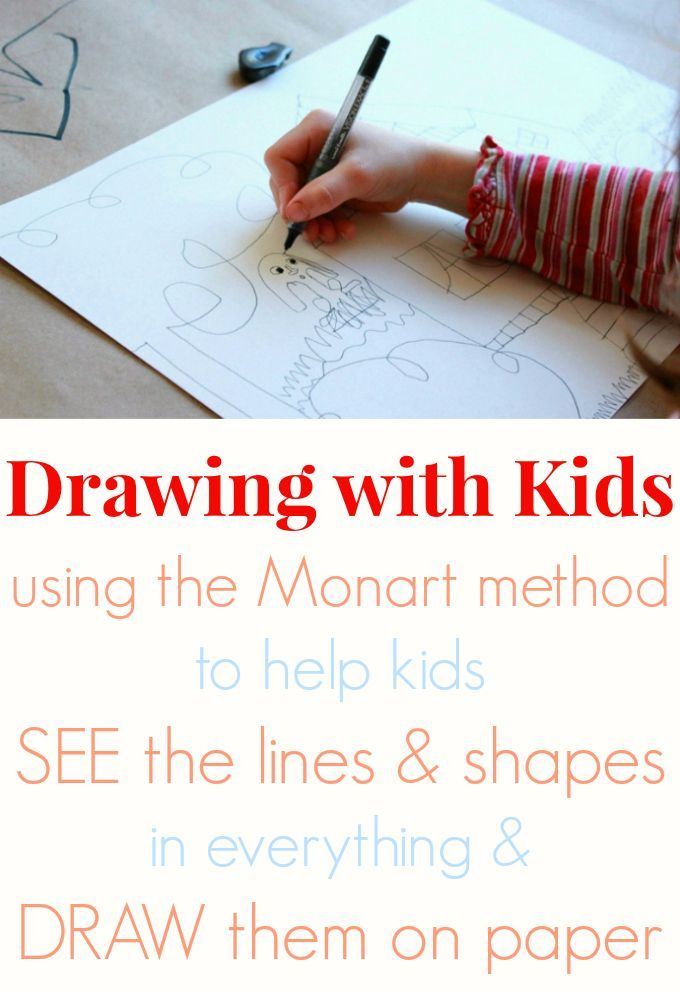 Drawing with Kids using the Monart Method - semble intéressant...
