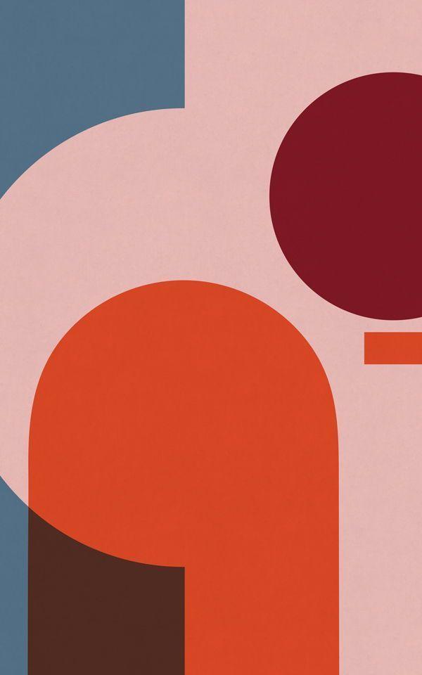 Colourful Geometric Wallpaper Mural   MuralsWallpaper