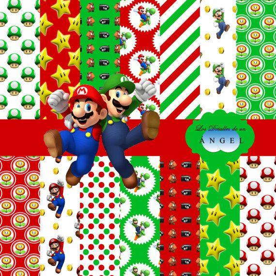 Super Mario Scrapbook Kit