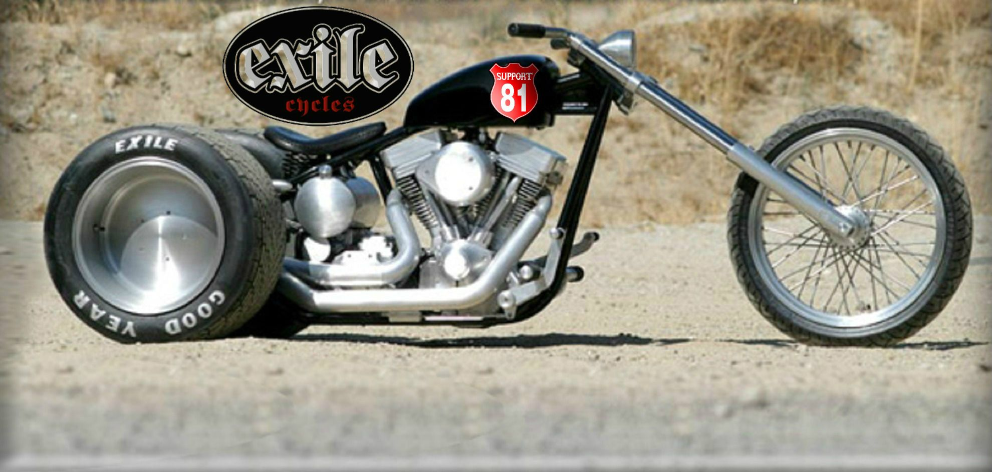 Russell mitchell s exile cycles discovery trike with route 81 emblem http