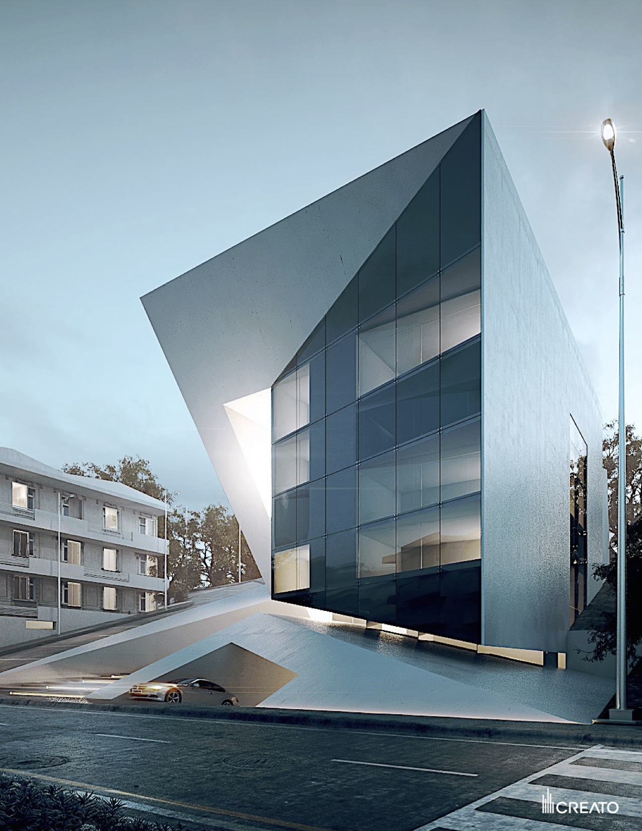 Modern architecture futuristic residential building www