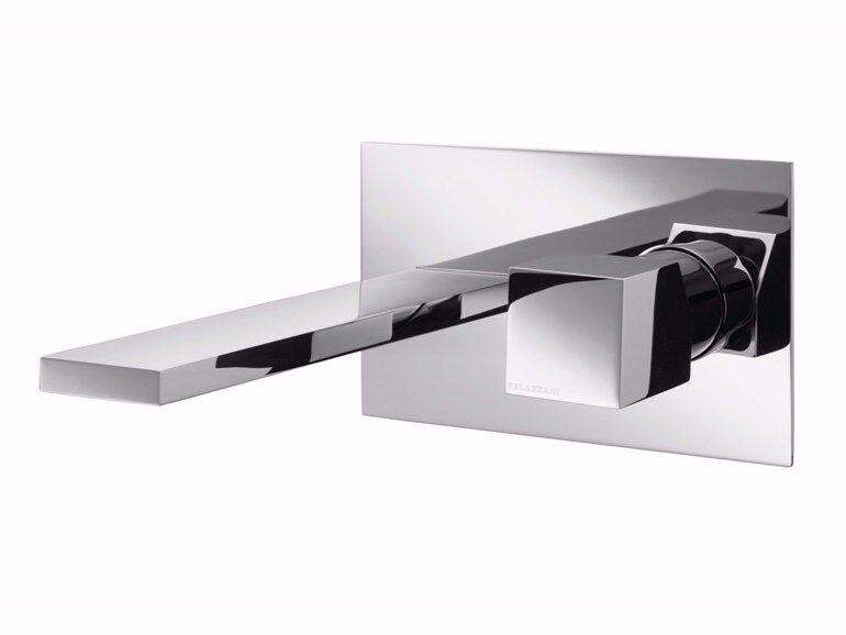 Wall Mounted Single Handle Chromed Brass Washbasin Mixer Track