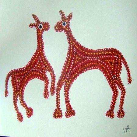 Bhil tribal paintings - Pithora Horses | Gond painting, Indian folk art,  Animal symbolism