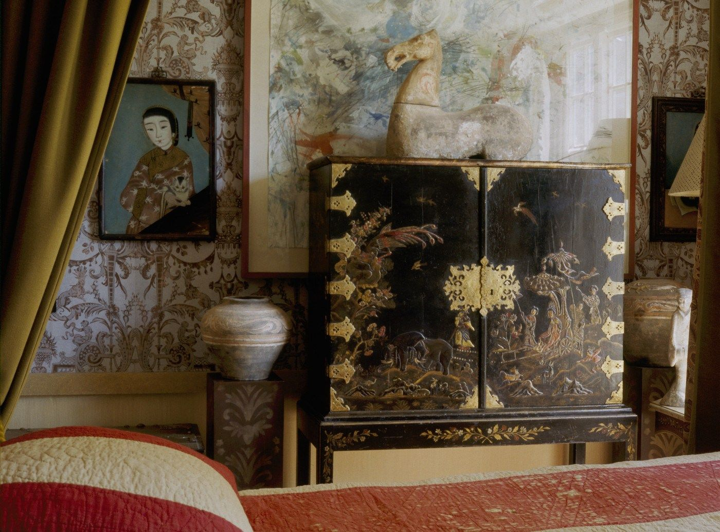 Black lacquered furniture lacquer furniture painted