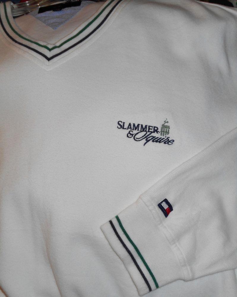VTG TOMMY HILFIGER GOLF SLAMMER SQUIRE CHAMPIONSHIP CLUB RESORT SWEATER~M L #TommyHilfiger #VNeck
