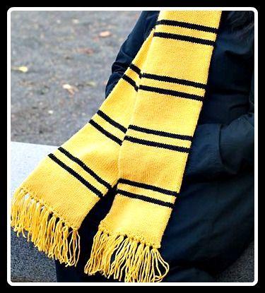 Harry Potter Scarf Knit Pattern Hufflepuff Knitting Pinterest