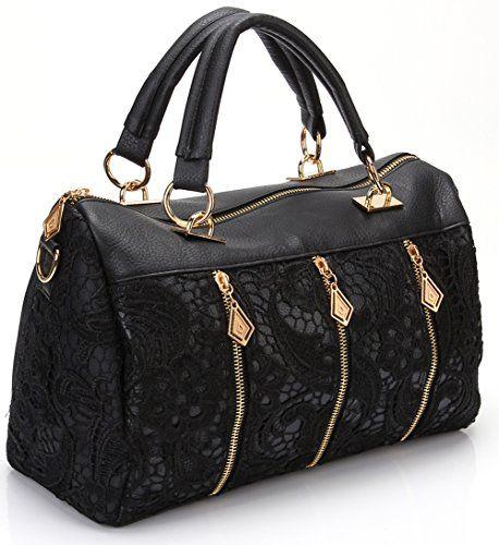 93b8989157 ANDI ROSE Women Designer PU Leather Tote Handbags Purses Shoulder Clutch  Hobo Bag (ANDI ROSE Black)