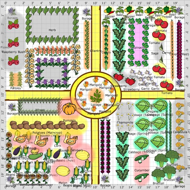 Kitchen Garden Planner: Garden Plans: Kitchen Garden (Potager)
