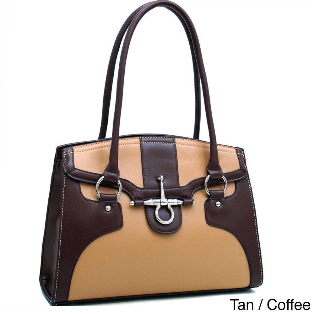 Dasein Two-Tone Chic Anchor Shoulder Bag  96ed145823326