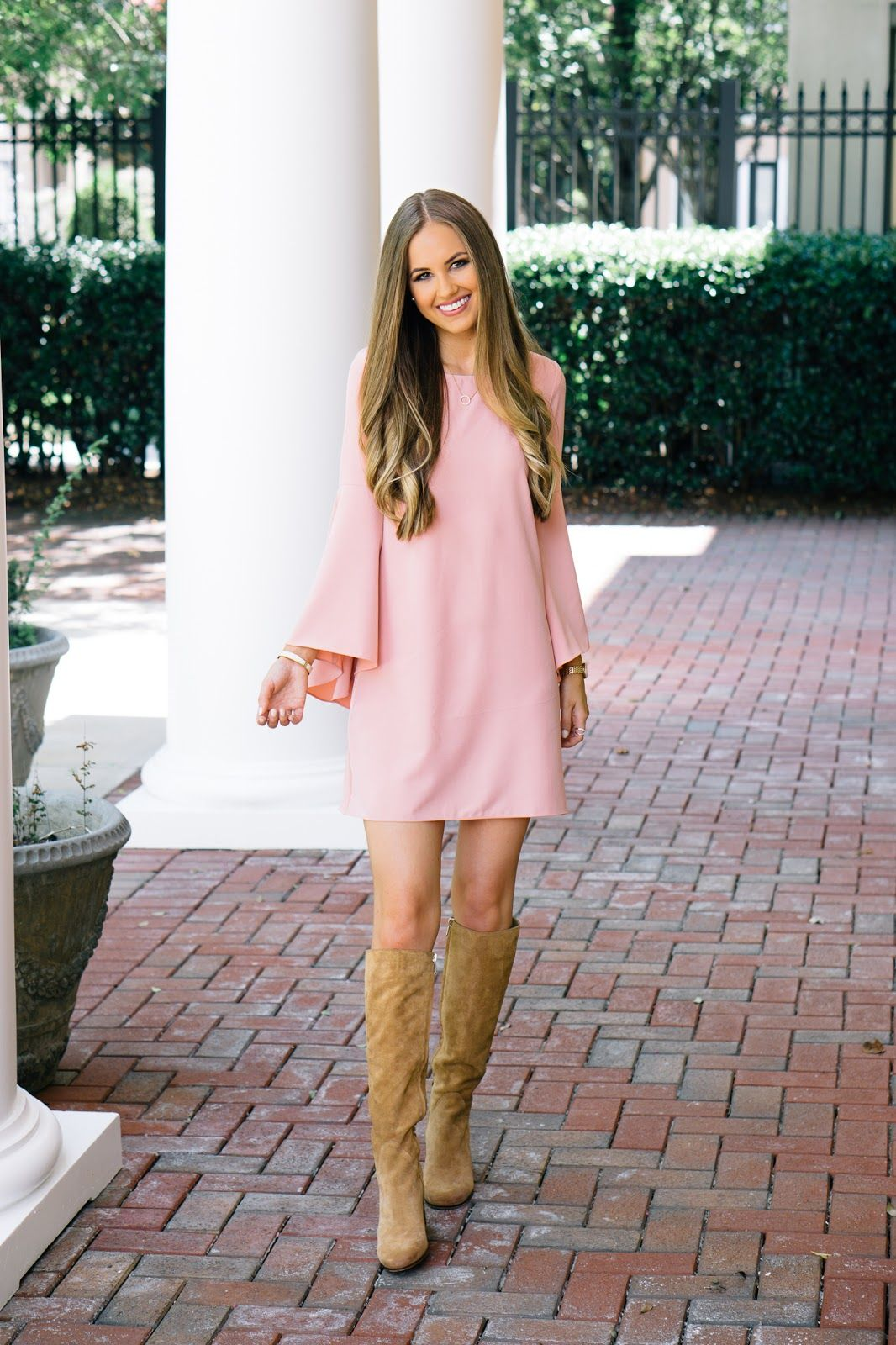 667bff0c5 Fall Fashion Camel Suede Boots www.looklovelyliving.com