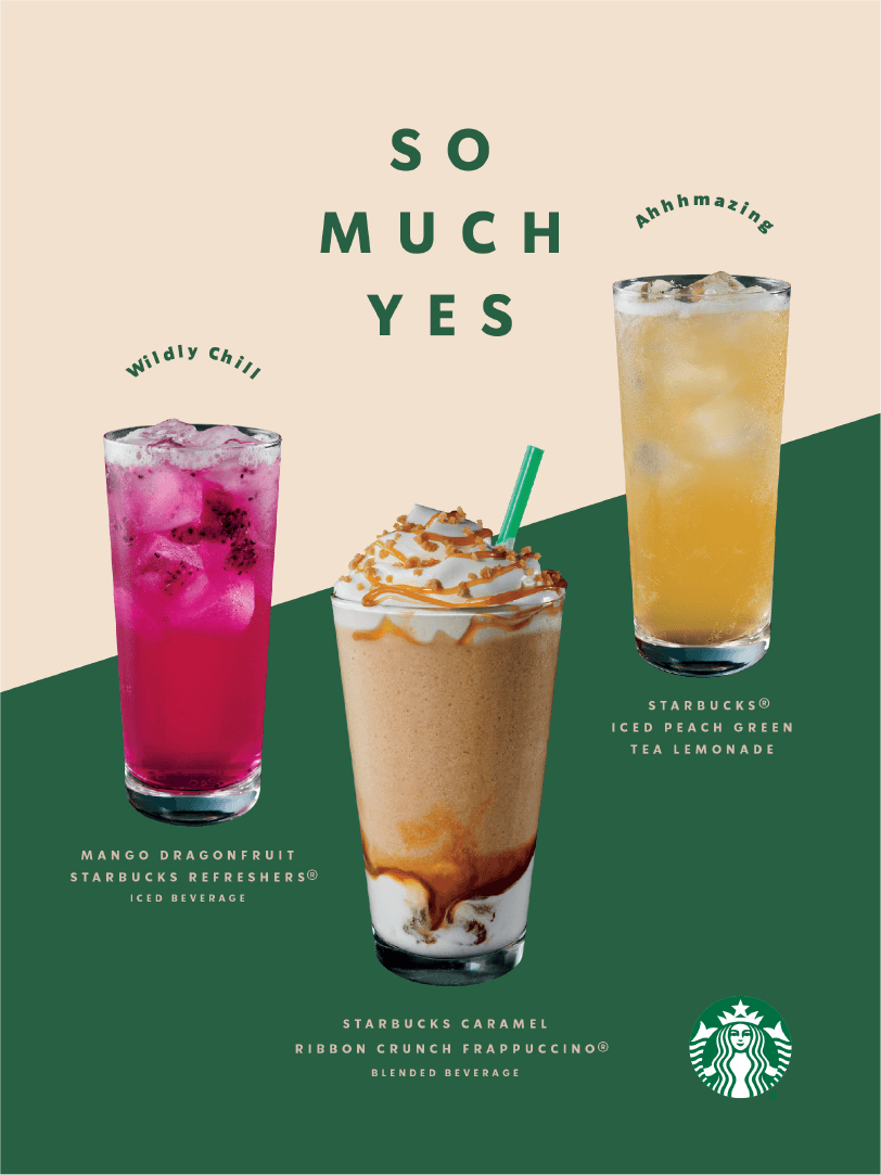 Voice Starbucks Creative Expression Food Poster Design Starbucks Design Beverage Poster