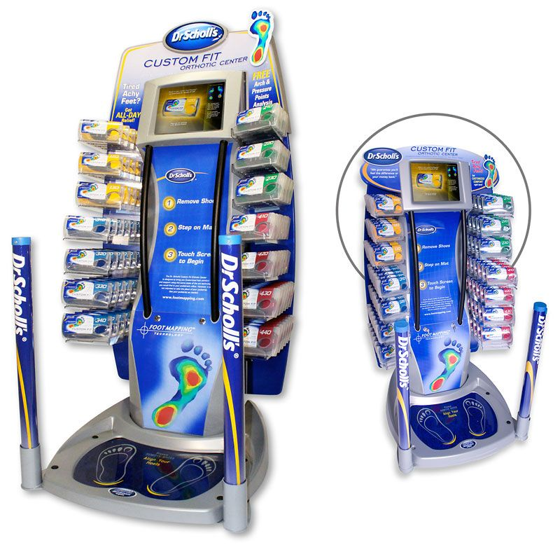 Dr. Scholl's Kiosk Header Update at Walmart (Summer 2012