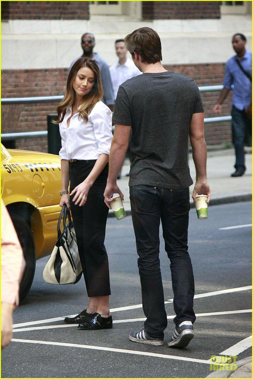 Liam Hemsworth Amber Heard Paranoia Film Set Work Fashion Liam Hemsworth Film Set