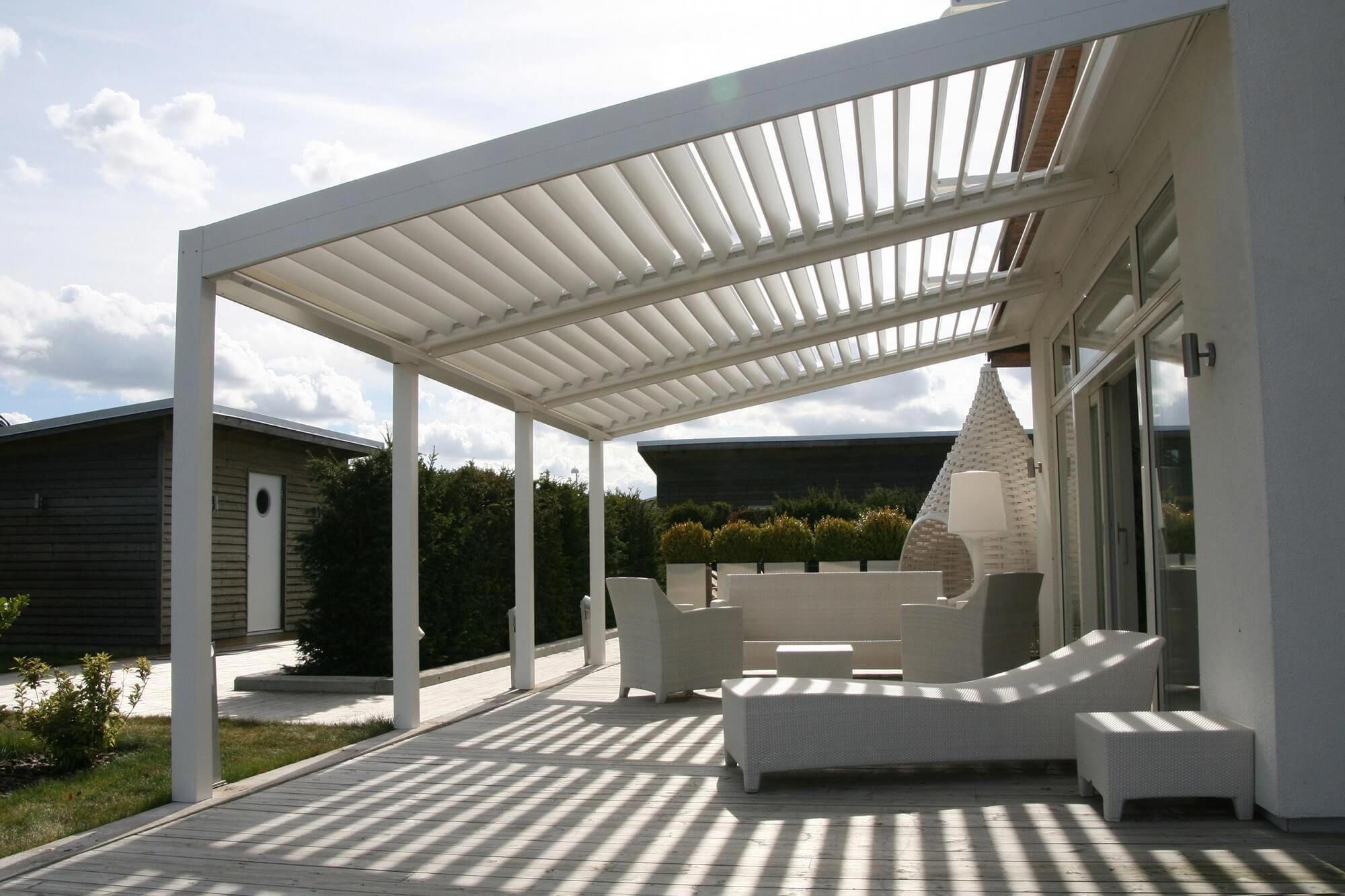 Pergola Bioclimatique Retractable Avis bioclimatique model residential rotating louver roof system