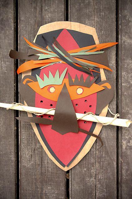 Originales caretas de cartulina para hacer en casa manualidades para carnaval y halloween - Mascaras para carnaval manualidades ...