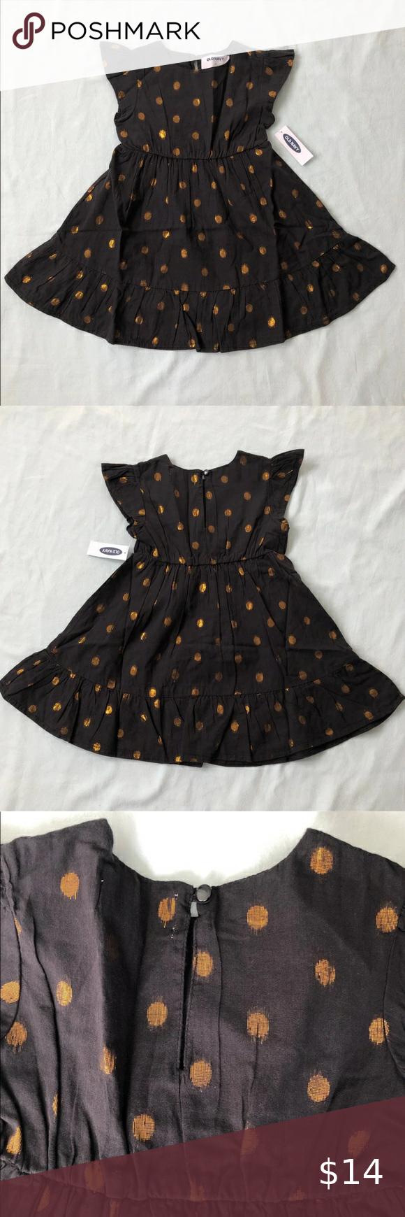 Nwt 4t Girl Polka Dot Ruffled Black Dress Black Ruffle Dress Girl Outfits Old Navy Toddler Girl [ 1740 x 580 Pixel ]