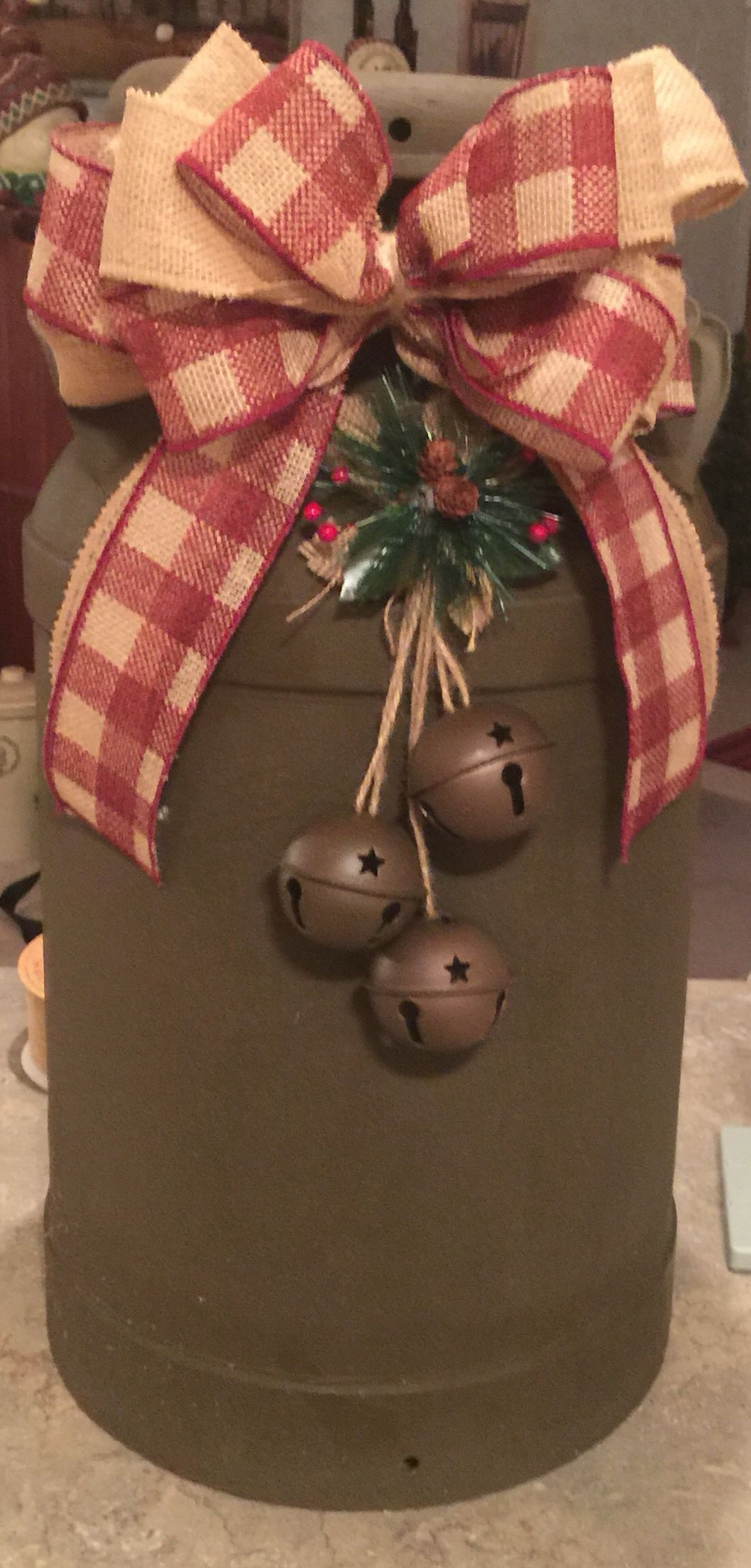 Rustic Christmas Milk Can Decor Christmas decorations