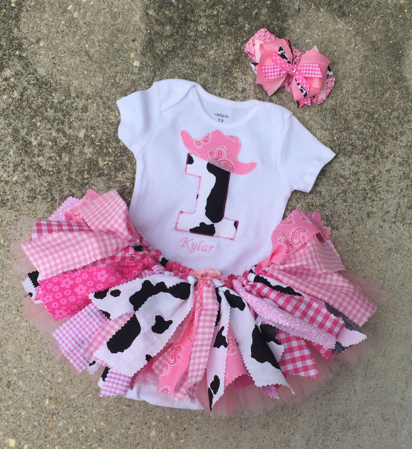 Pink Cowgirl Birthday Outfit Barnyard Tutu
