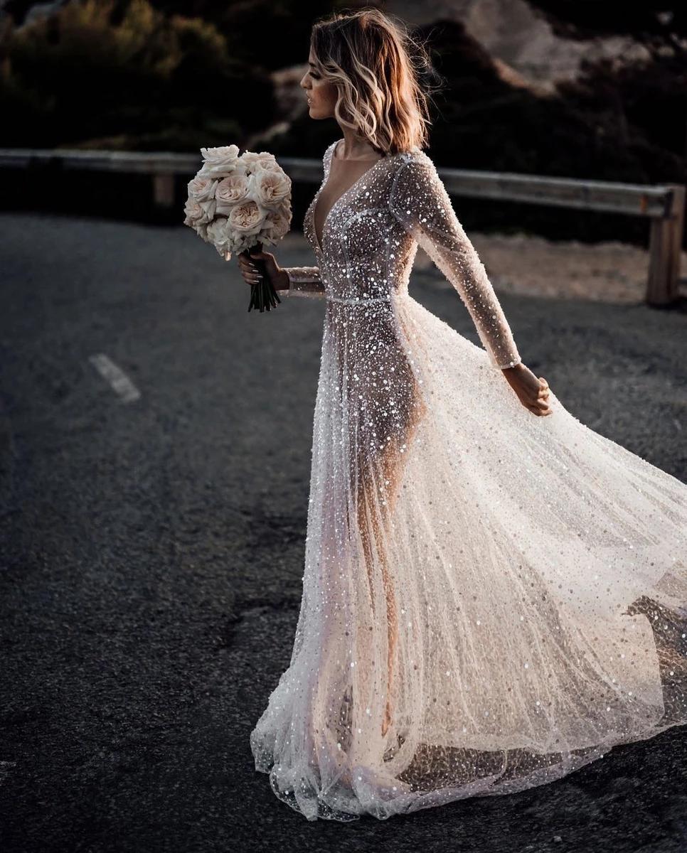 Elegantes Pure Color Warmbohr-Abendkleid für Damen   – Nickes wedding