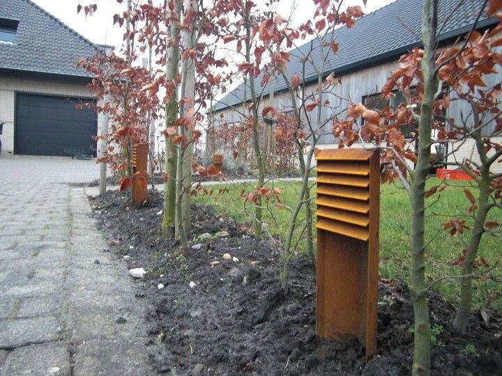 Corten steel Outdoor lighting, Outdoor, Outdoor structures
