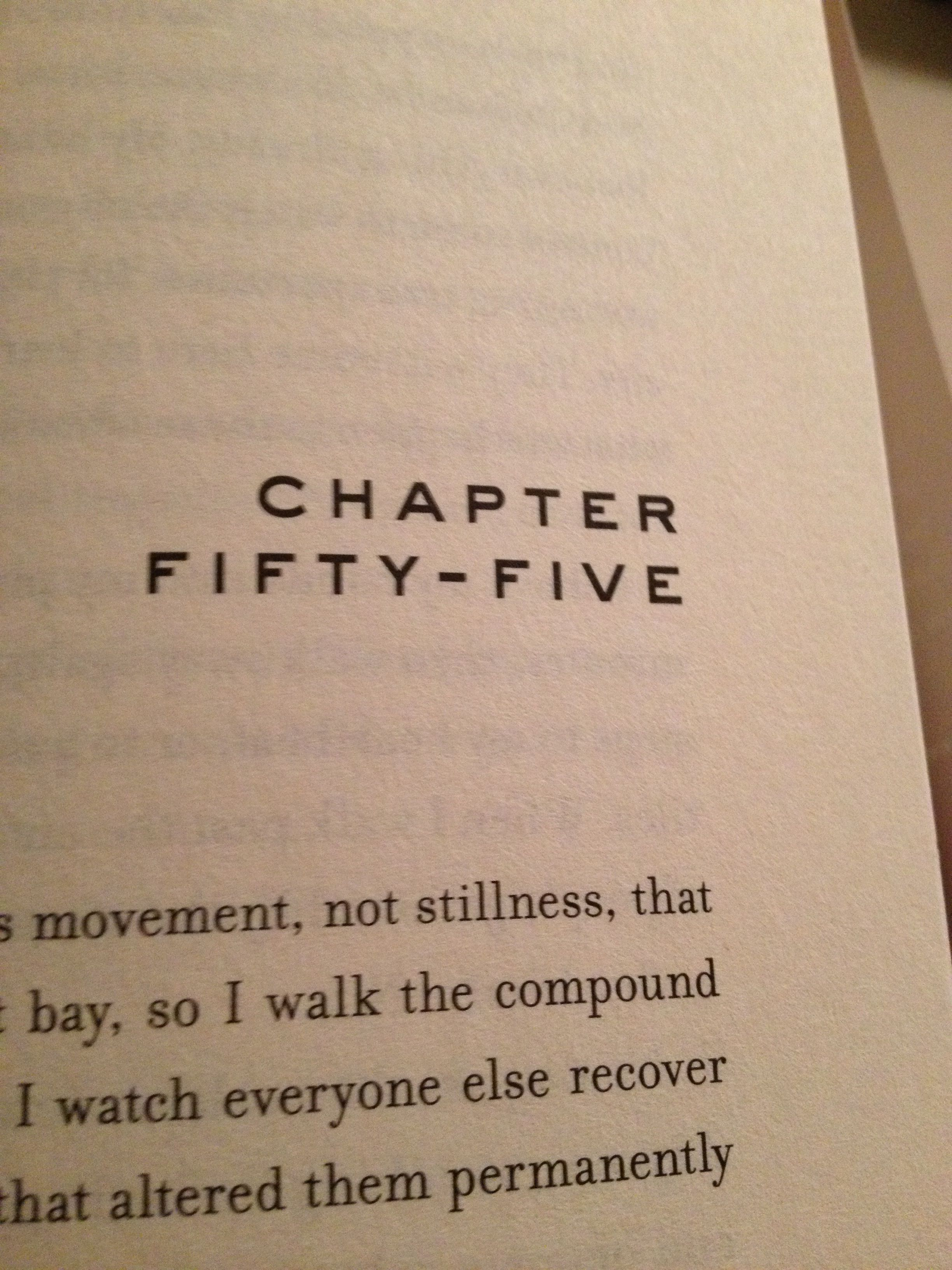 The sad part of Allegiant when it stops telling you whose point of view it is... :,(
