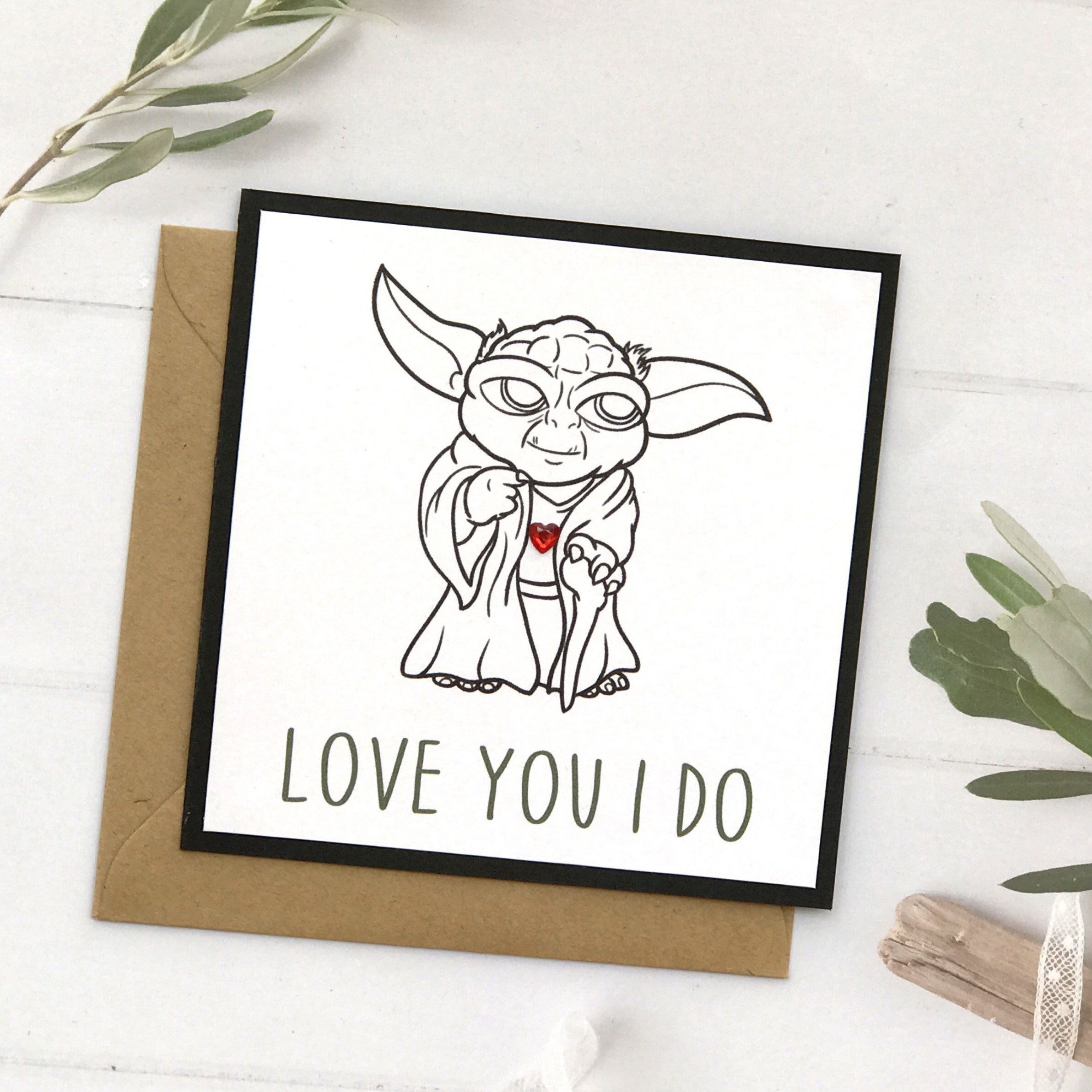 Anniversary Card Boyfriend Star Wars Card Star Wars Boyfriend