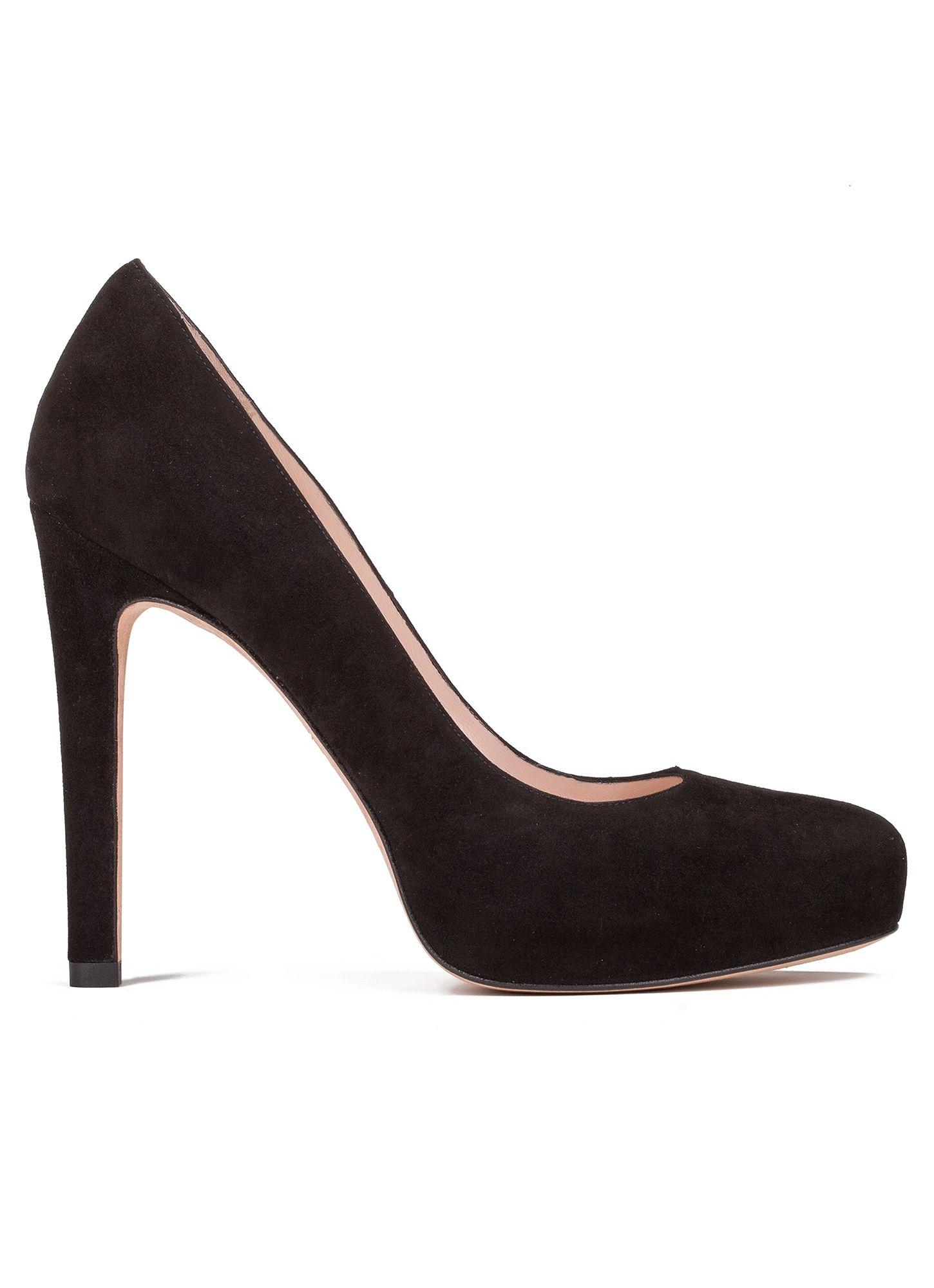 98beea921 High heel pumps in black suede - online shoe store Pura Lopez · PURA LOPEZ