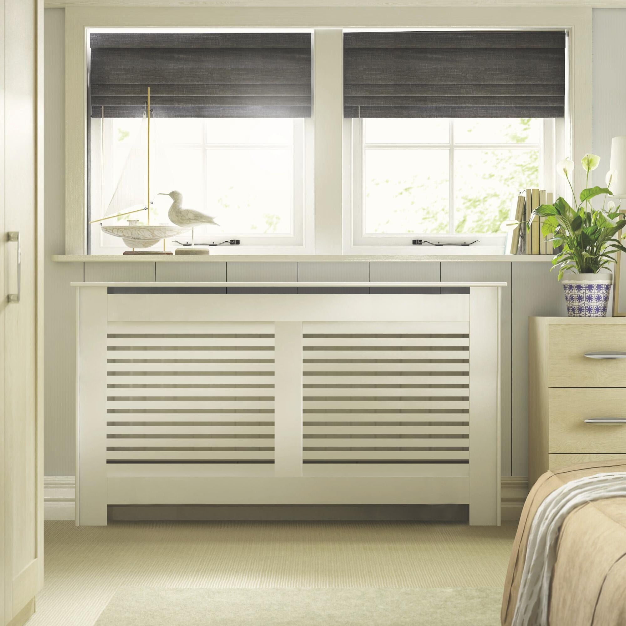 Large White Painted New Suffolk Radiator Cover | Departments | DIY at B&Q