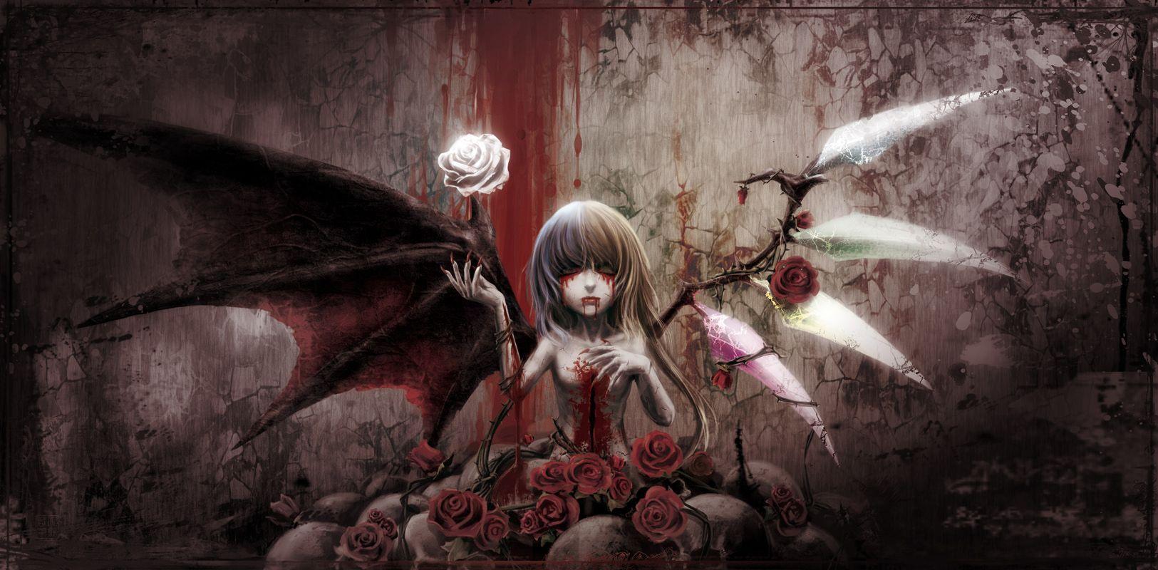 Anime Touhou Flandre Scarlet Vampire Wallpaper Anime Art Fantasy Anime Art Dark Anime Art Beautiful