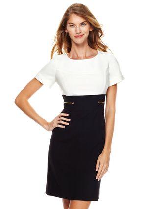 On ideeli: TAHARI ARTHUR S. LEVINE Petite Zipper Detail Crepe Dress
