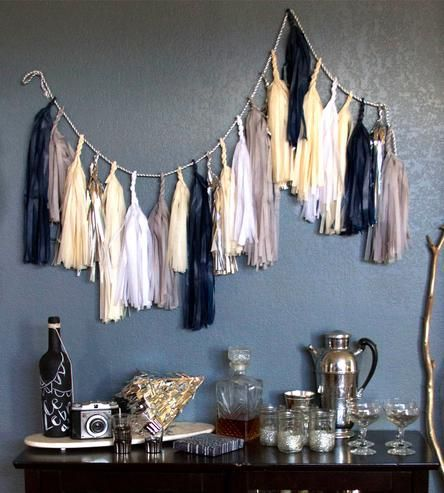 Paper Tassel Garland & Giant Balloon - Starry Nights  by Paper Fox on Scoutmob Shoppe
