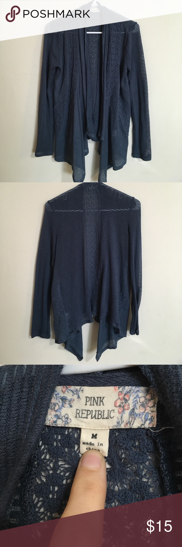 Cardigan Navy blue cardigan no flaws EUC. Feel free to ask ...
