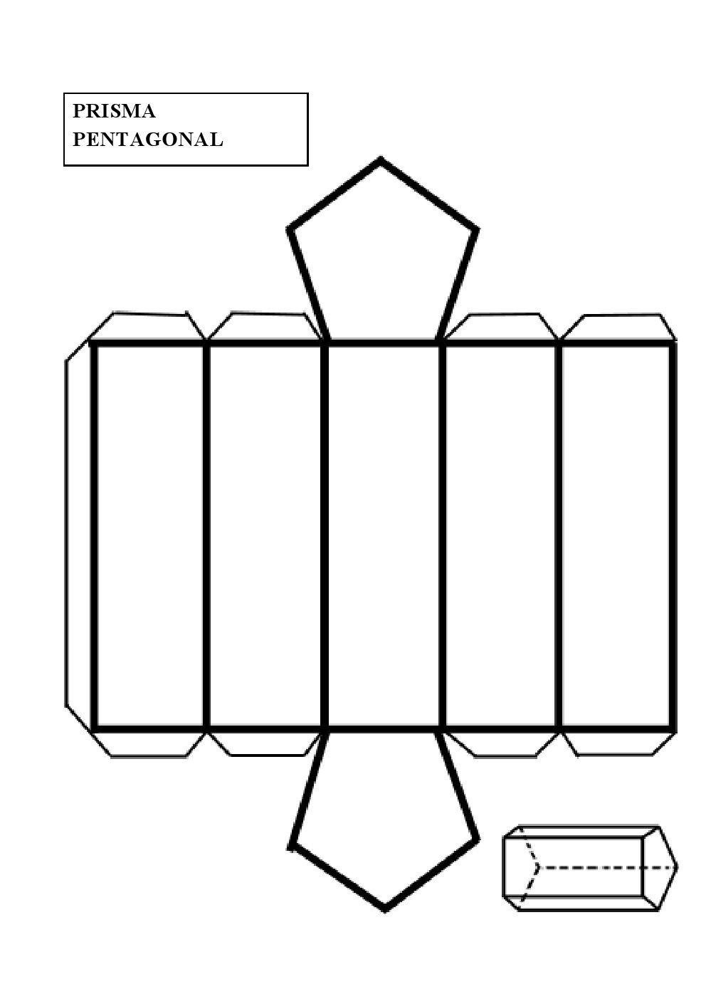 Construir un prisma pentagonal   matematika 4.osztály   Pinterest ...