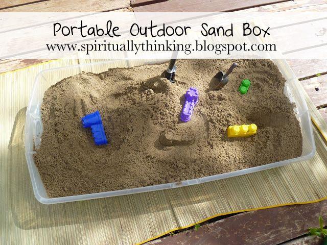 portable sand box