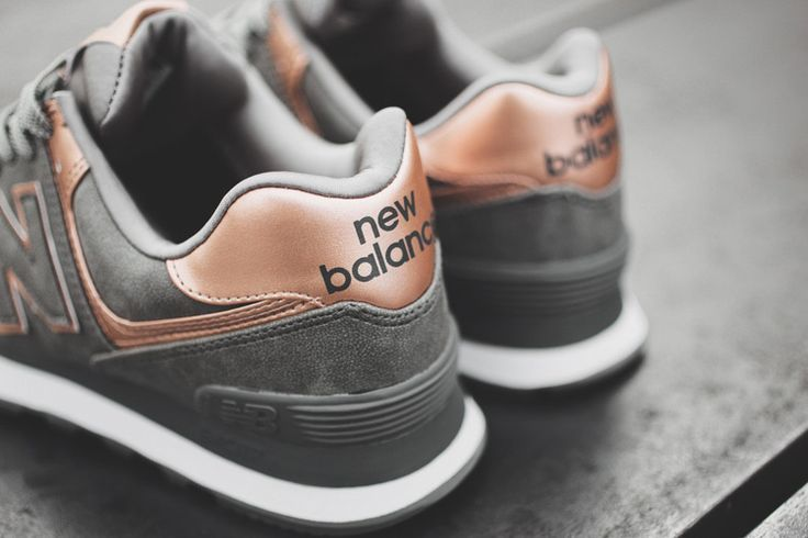 new balance metallic rose gold