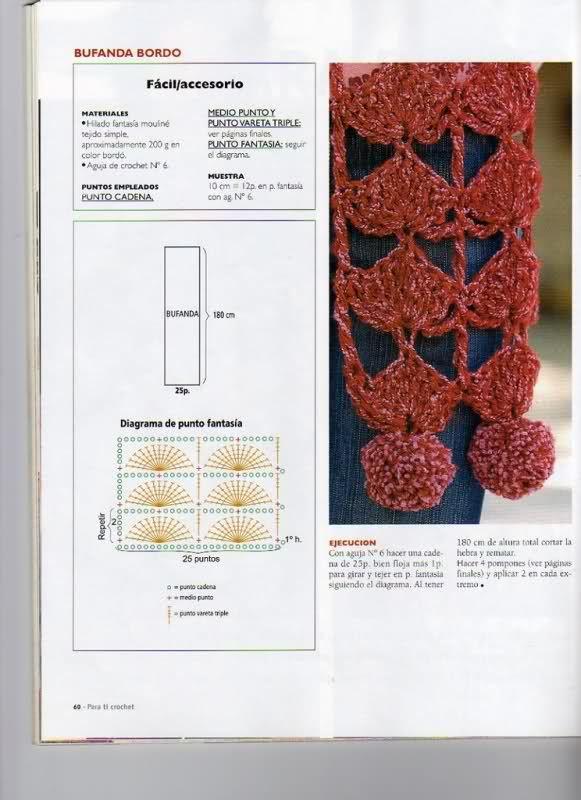 Delicadezas en crochet Gabriela: Bufandas y gorros paso a paso ...