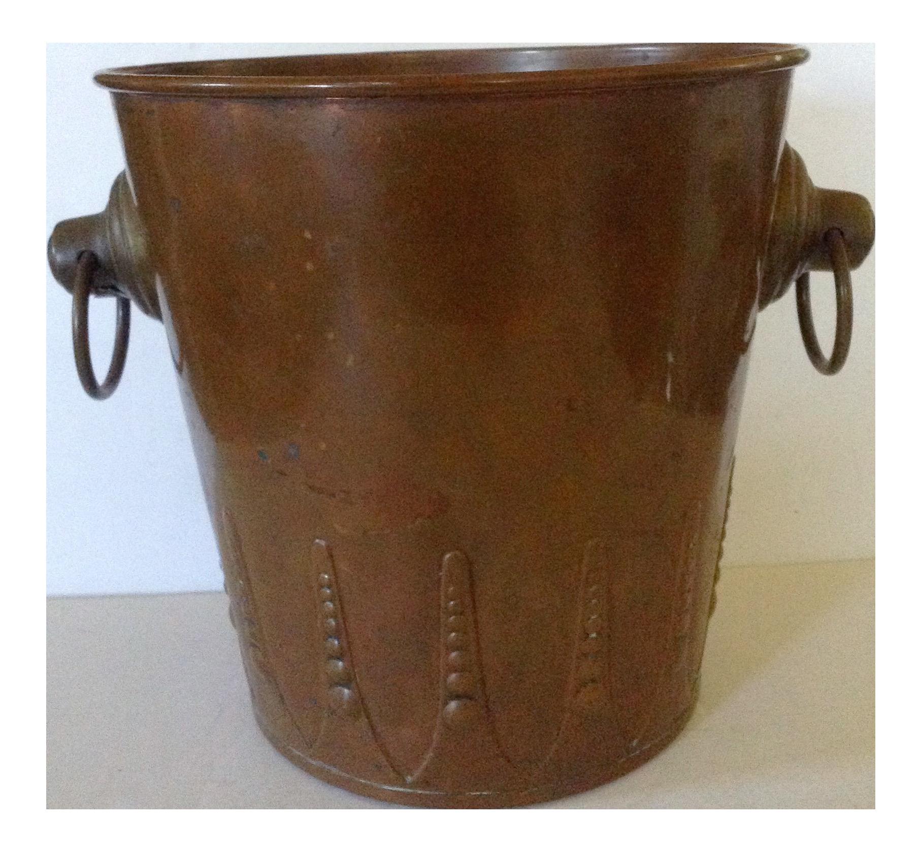 French Copper Ice Bucket on Chairish.com