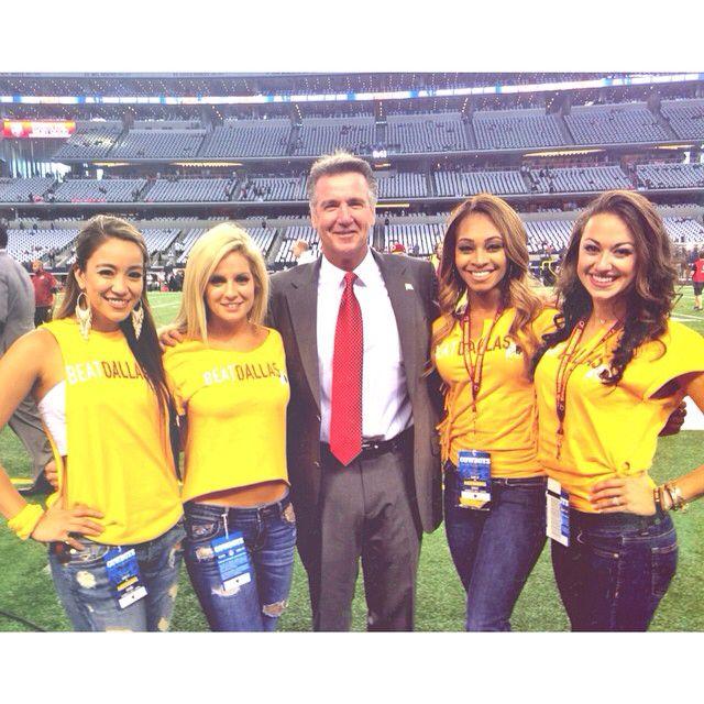 Pregame pep talk with Bruce Allen... Let's go @Redskins!!! #HTTR #MNF #WASvsDAL