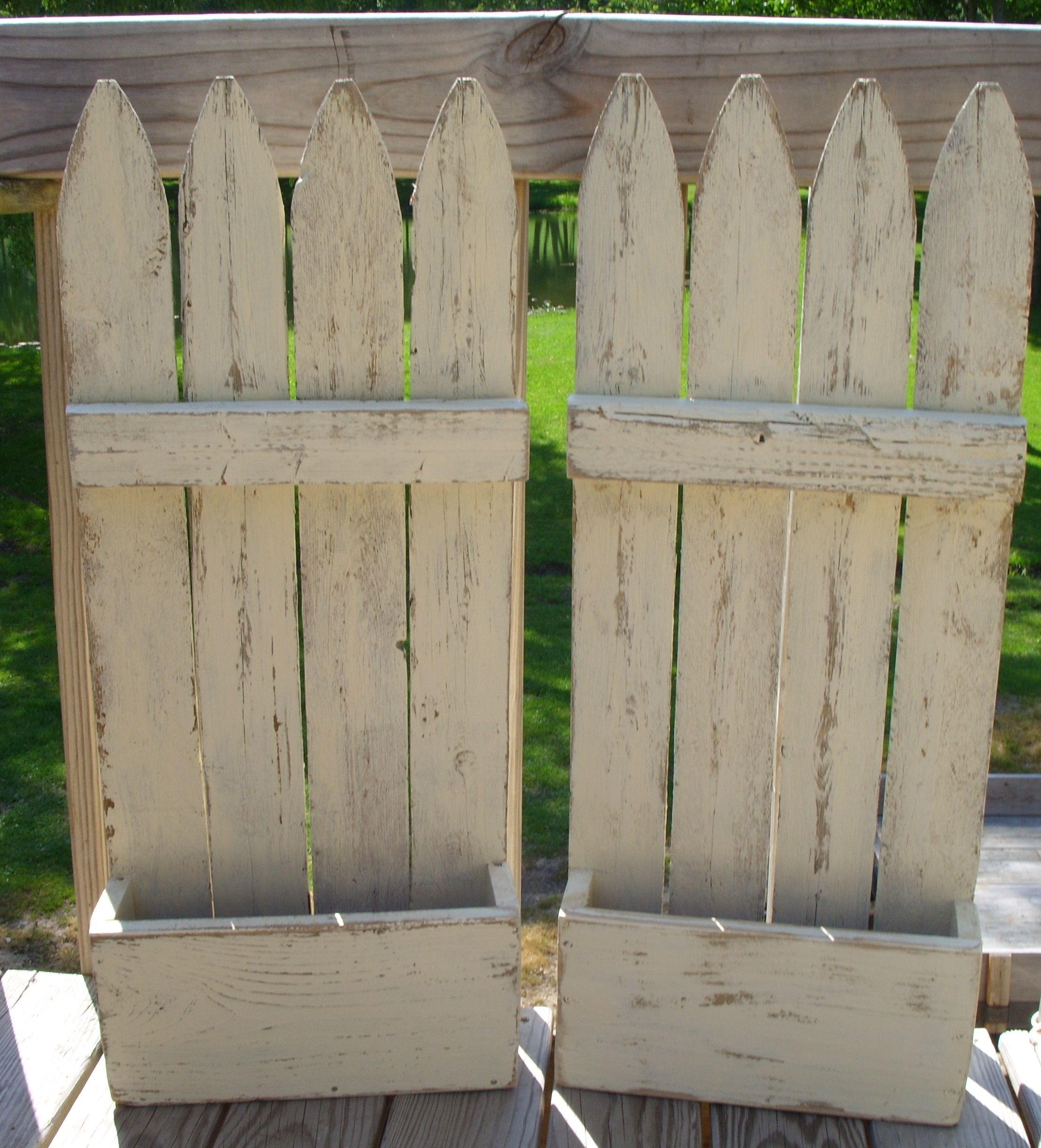 What Do You Get When You Recycle Old Fence Panels Faux Flower