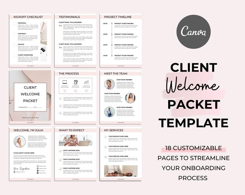 Client Welcome Packet Template Proposal Template Virtual Assistant Welcome Packet Client Onboarding Template New Client Service Guide In 2021 Welcome Packet Client Welcome Packet Template Proposal Welcome packet template free